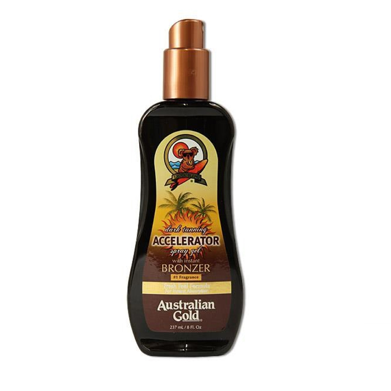 Accelerator Dark Tanning spray gel w/bronzer