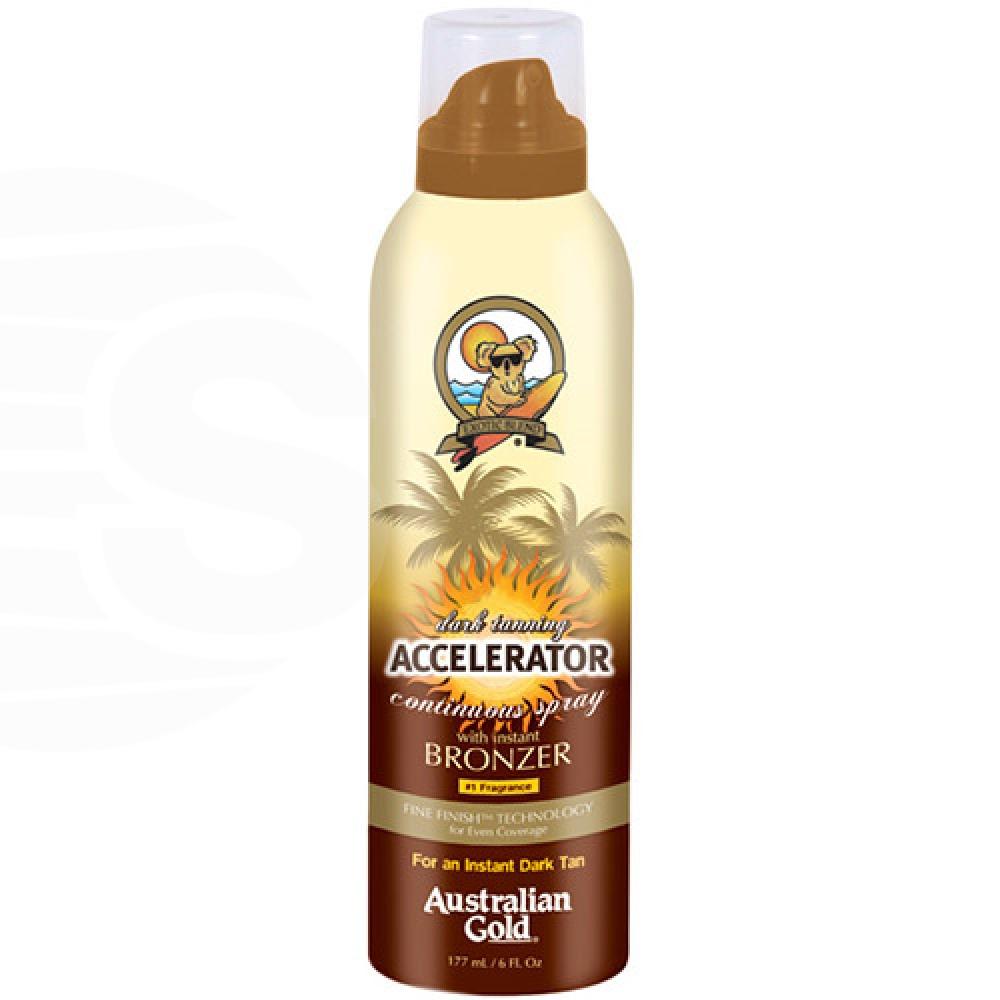Accelerator Dark Tanning Cont.spray w/bronzer