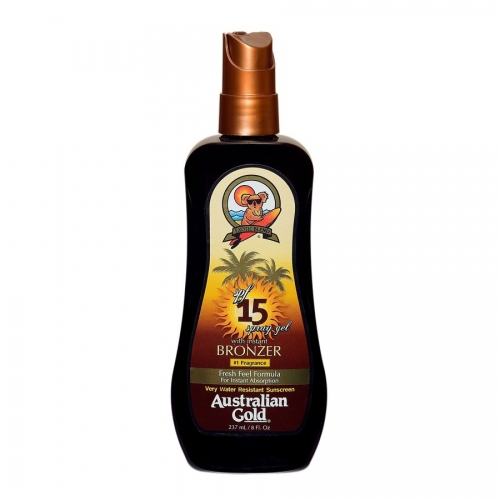 Australian Gold - SPF 15 Gel Spray W/Bronzer