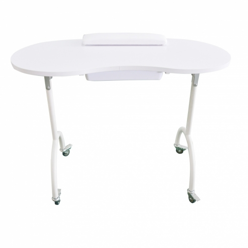 Table manicure portable with drawer Weelko