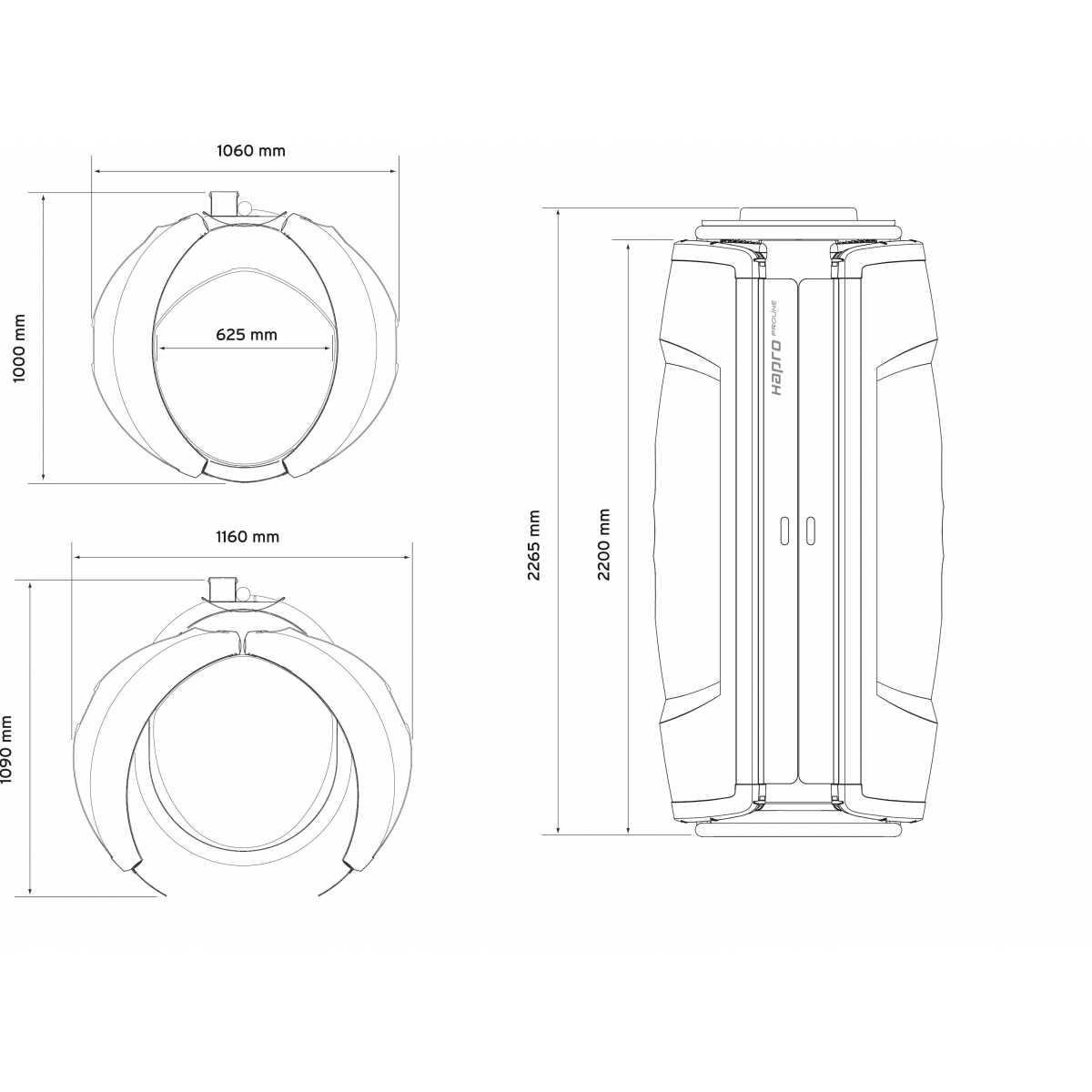 Hapro Collagen & Sun 28V Intensive - Solarium vertical - Soláriums domésticos - Hapro