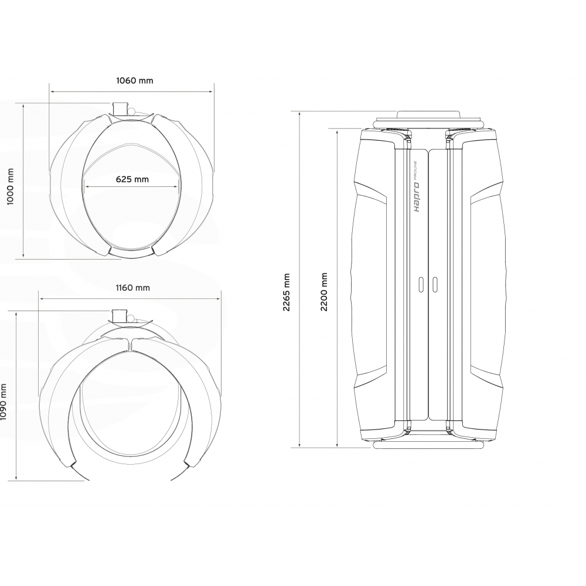 Hapro Proline 28 V - Solarium verticale - Solarium domestico - Hapro
