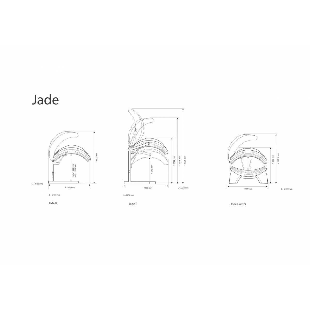 Hapro Jade Jade 24 C Lc - Solarium horizontal intérieur - Solariums domestique - Hapro