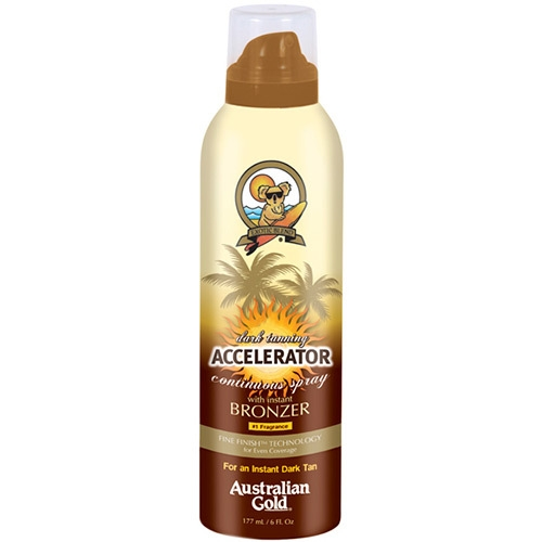 Accelerator Dark Tanning Cont Spray w/bronzer - Protectores solares - Australian Gold