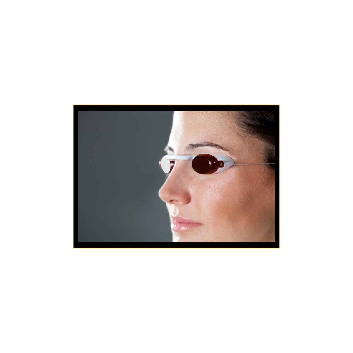 Glasses UVA Solarium FlexiVision with case